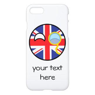 Lustiges neigendes Geeky Vereinigtes Königreich iPhone 8/7 Hülle