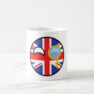 Lustiges neigendes Geeky Vereinigtes Königreich Kaffeetasse