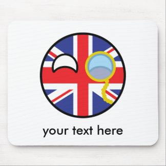 Lustiges neigendes Geeky Vereinigtes Königreich Mousepad