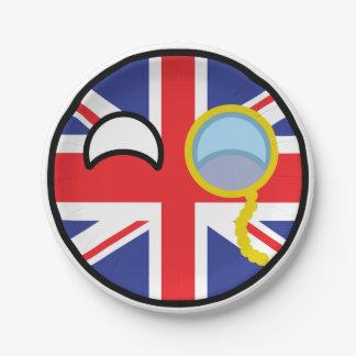 Lustiges neigendes Geeky Vereinigtes Königreich Pappteller