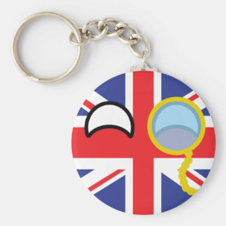 Lustiges neigendes Geeky Vereinigtes Königreich Schlüsselanhänger