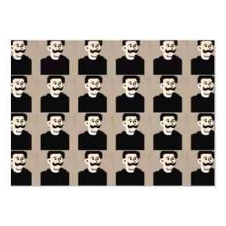 Lustiges niedliches Gesicht des glücklichen 12,7 X 17,8 Cm Einladungskarte