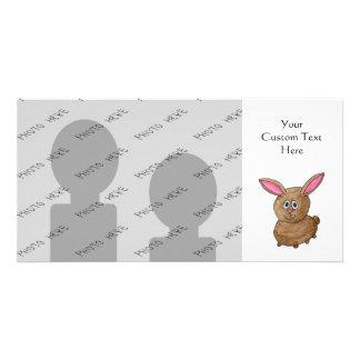 Lustiges niedliches Kaninchen Foto Karten