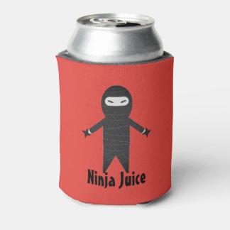 Lustiges Ninja Saft-Bier-Getränk cooler Dosenkühler