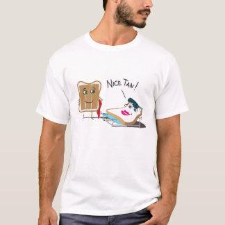 "Lustiges ""Nizza TAN!"" Toast-ein Sonnenbad T-Shirt"