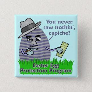 Lustiges Osterei-Schutz-Programm Quadratischer Button 5,1 Cm