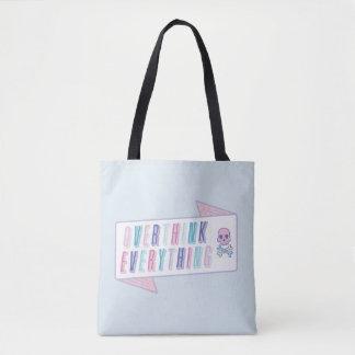Lustiges Overthink alles Taschen-Tasche Tasche