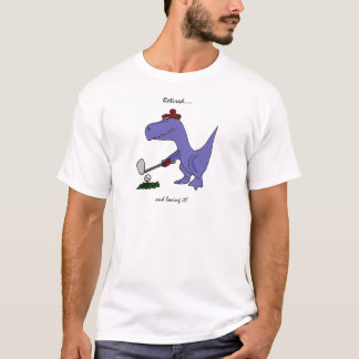 Lustiges pensioniertes T-Rex Dinosaurier-Golf T-Shirt