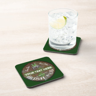 Lustiges personalisiertes irisches Pubzeichen Getränke Untersetzer