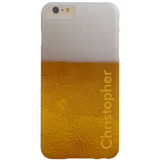 Lustiges personalisiertes kaltes Bier Barely There iPhone 6 Plus Hülle