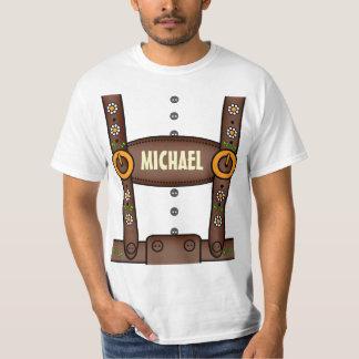 Lustiges personalisiertes Lederhosen Oktoberfest T-Shirts