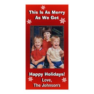 Lustiges personalisiertes Weihnachten Karte