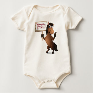 Lustiges Pferdebaby Onsie Baby Strampler