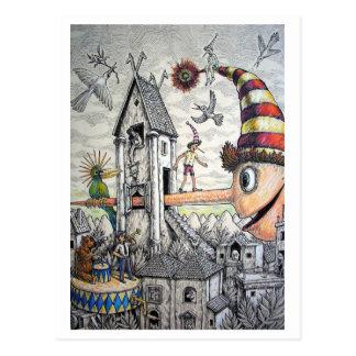Lustiges Pinocchio Postkarten