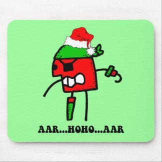 Lustiges Pirat Weihnachten Mousepad