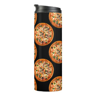 Lustiges Pizza-Muster Thermosbecher