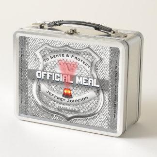 Lustiges Polizei-Abzeichen Metall Lunch Box