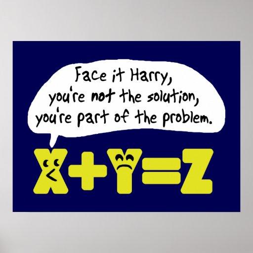 Lustiges Problem-Blau Plakat