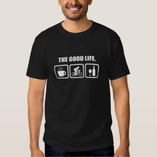 Lustiges radfahrenjagd-Shirt das gute Leben Tshirts