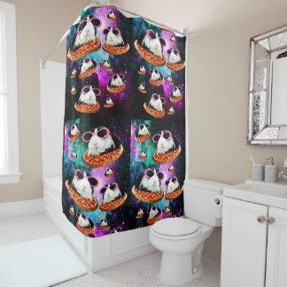 Lustiges Raummeerschweinchen Duschvorhang
