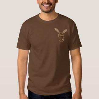Lustiges Ren gestickter langer Hülsen-T - Shirt