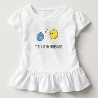Lustiges romantisches sind Sie mein Rüsche-T-Stück Kleinkind T-shirt