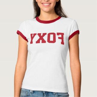 """Lustiges Rück""""Foxy"""" Selfie Damen-Wecker-T-Stück T-Shirt"""