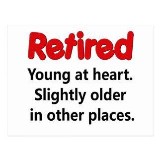 Lustiges Ruhestands-Sprichwort Postkarte