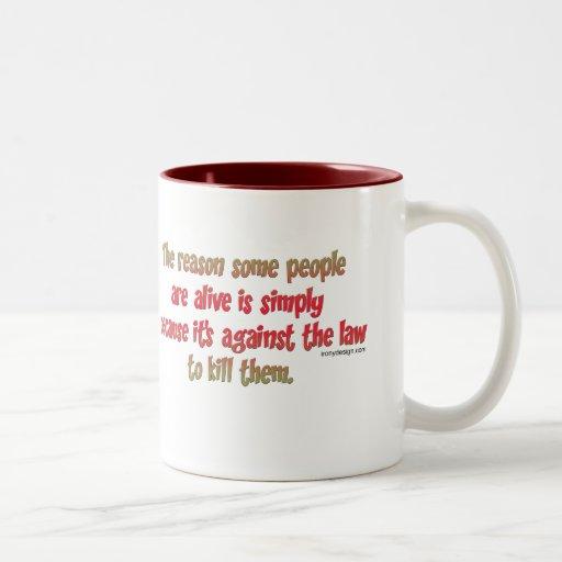Lustiges sarkastisches Sprichwort auf Leuten Tee Tasse