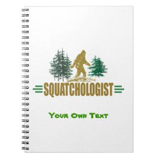 Lustiges Sasquatch Bigfoot Spiral Notizblock
