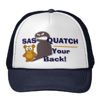 Lustiges SasQuatch Ihr hinterer Fernlastfahrer-Hut Cap