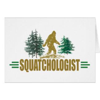 Lustiges Sasquatch Mitteilungskarte
