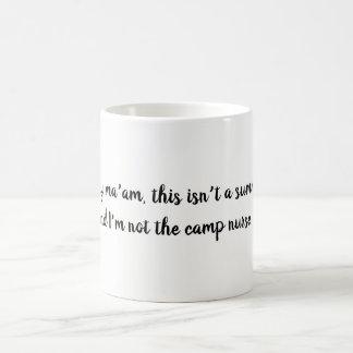 Lustiges schamloses Krankenschwester-Zitat Kaffeetasse