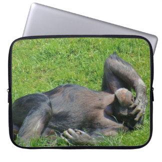 Lustiges Schimpanse-Tier Laptopschutzhülle