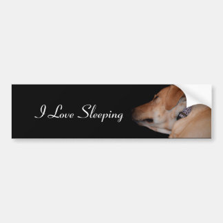 Lustiges Schlafen Labrador retriever Autoaufkleber