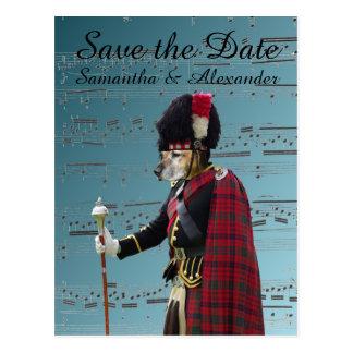 Lustiges schottisches wedding Save the Date Postkarte