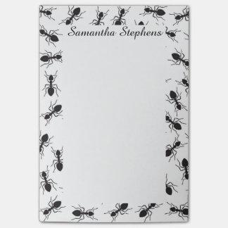 Lustiges schwarzes Ameisen-Muster Post-it Haftnotiz
