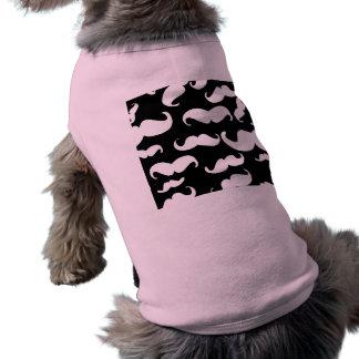 Lustiges schwarzes Stache Ärmelfreies Hunde-Shirt