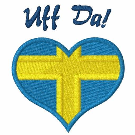 Lustiges Schwede Uff DA mit Herz-Flagge von Schwed Polo