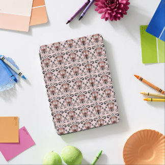 Lustiges Schwein-Damast-Muster iPad Air Cover
