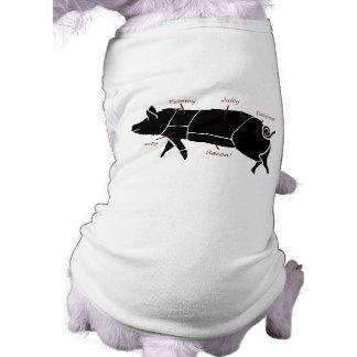Lustiges Schwein-Metzger-Nomogramm Hunde Shirt