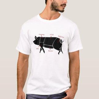 Lustiges Schwein-Metzger-Nomogramm T-Shirt