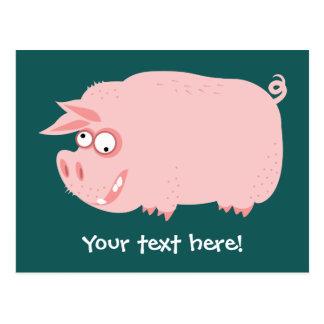 Lustiges Schwein Postkarte