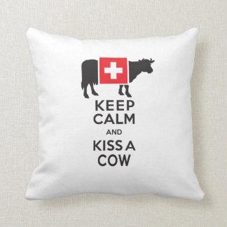 Lustiges Schweizer Kissen - behalten Sie Ruhe und