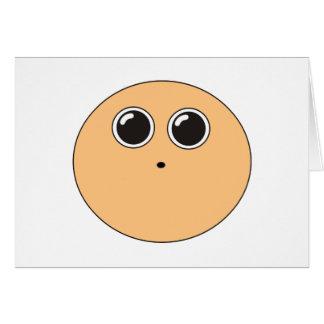 Lustiges schwindliges lebhaftes Gesicht Karte