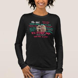 Lustiges Shirt, Buckel-Tageskamel (Ganztext) Langarm T-Shirt