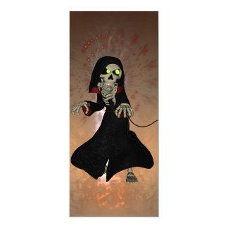 Lustiges Skelett 10,2 X 23,5 Cm Einladungskarte