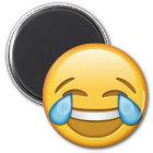 Lustiges smiley emoji runder Magnet