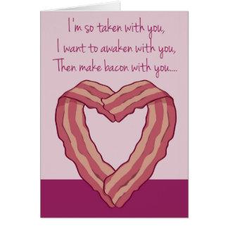 Lustiges Speck-Karten-Gedicht für Valentinstag Karte