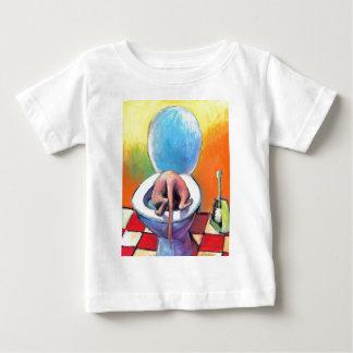 Lustiges Sphynx Sphinx-Katzentrinken Baby T-shirt